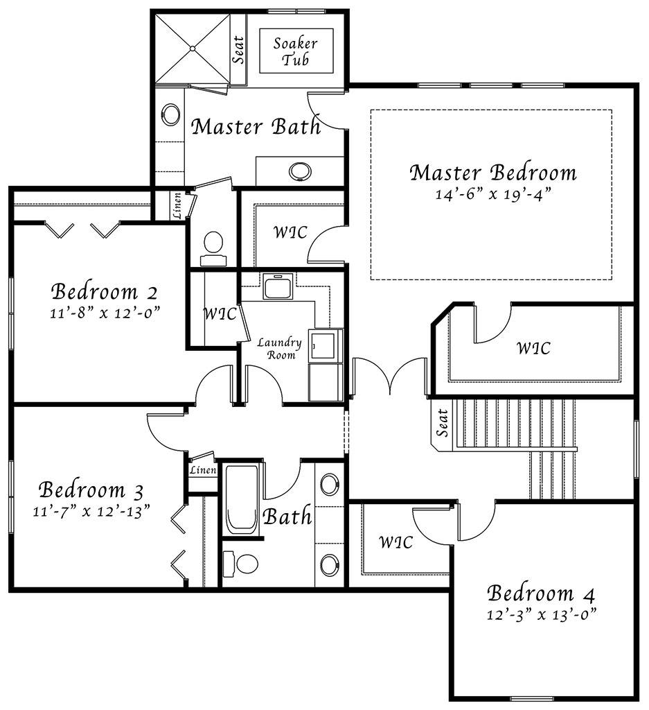 100 Center Hall Colonial Floor Plan Colonial House
